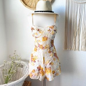 Free People candy vintage inspired floral romper